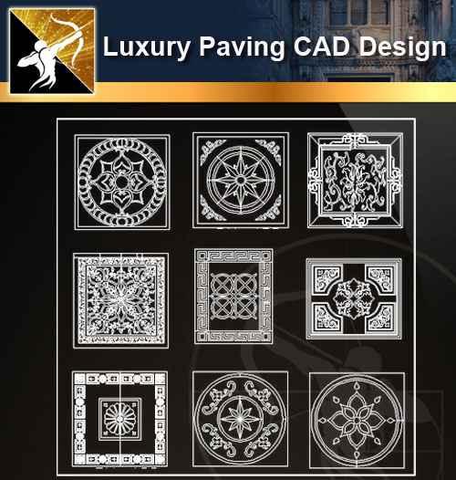 ★【 Luxury Ground Design-CAD Paving Blocks】@Autocad Decoration Blocks,Drawings,CAD Details,Elevation