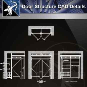 【Architecture CAD Details Collections】Door Structure CAD Details