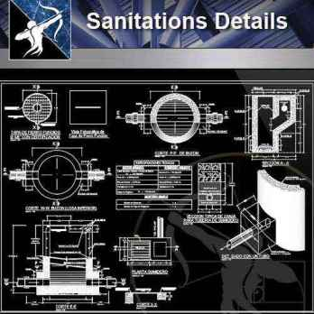 【Architecture CAD Details Collections】Sanitations CAD Details