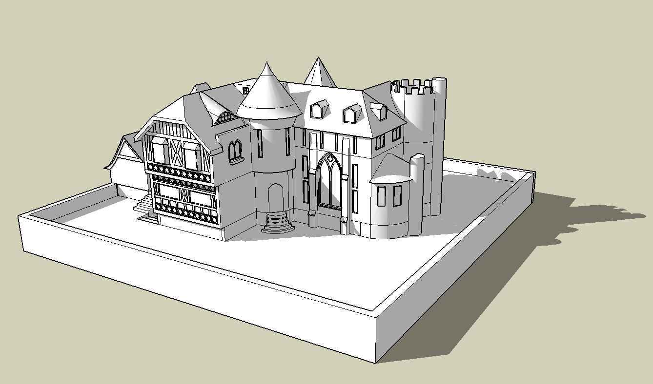【Sketchup Architecture 3D Projects】European Classical Architecture Sketchup 3D Models V1